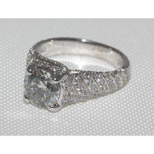 Jewelry - 4 carat diamonds micro pave ring anniversary ring